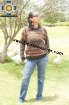 women alpaca sweater chinchaysuyo  - Product id: womens-alpaca-sweater12-06 Photo03