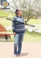 women alpaca sweater collasuyo  - Product id: womens-alpaca-sweater12-07 Photo01