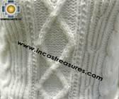 women alpaca sweater white-irish  - Product id: womens-alpaca-sweater11-07 Photo03