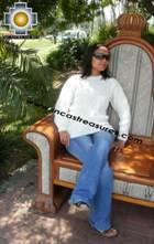 women alpaca sweater white-irish  - Product id: womens-alpaca-sweater11-07 Photo02