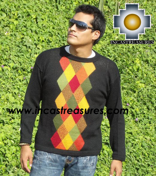 100% alpaca wool sweater for men COCO  - Product id: mens-alpaca-sweater12-01