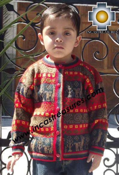 100% Alpaca Children Sweater Camotito  - Product id: children-sweater13-01