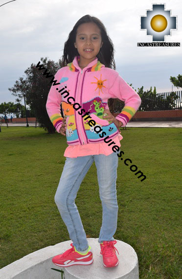 100% Alpaca Children Sweater with Hood sol  - Product id: children-sweater17-02