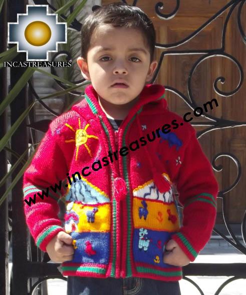 100/% Alpaca Children Sweater with Hood Tomatito Buy 2 Get One Free