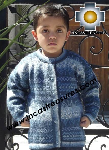 100% Alpaca Children Sweater Uvita  - Product id: children-sweater13-03