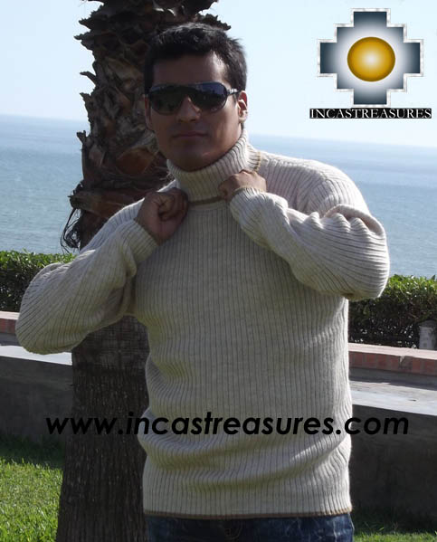 Men Alpaca Sweater Turtle Neck - Product id: womens-100-baby-alpaca-sweater13-10