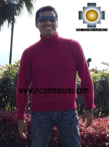 Men Alpaca Sweater Turtle Neck - Product id: womens-100-baby-alpaca-sweater13-09