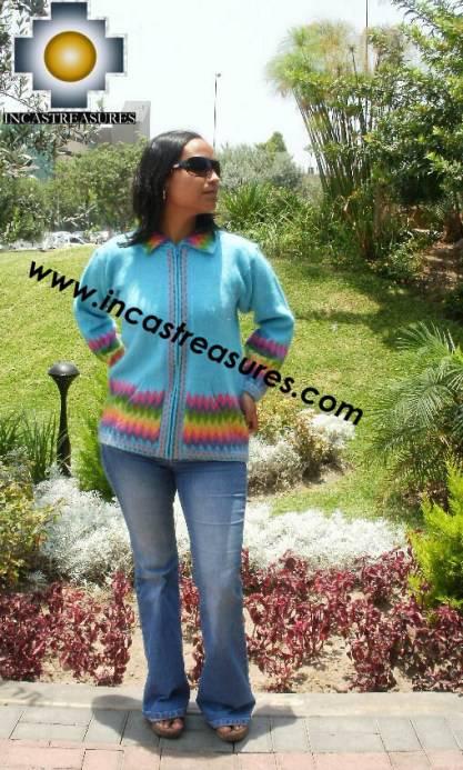 Women alpaca sweater anqa with zipper - Product id: womens-alpaca-sweater11-02