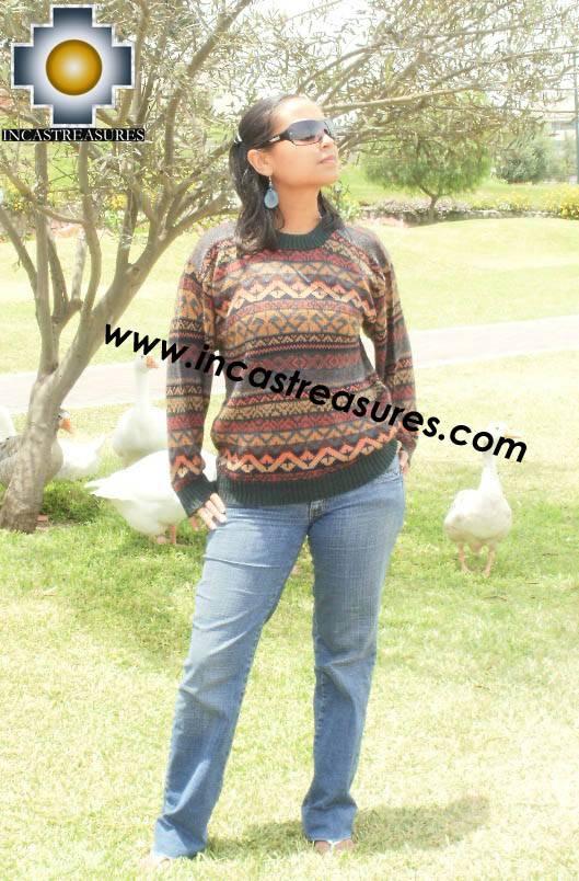 Women alpaca sweater chinchaysuyo