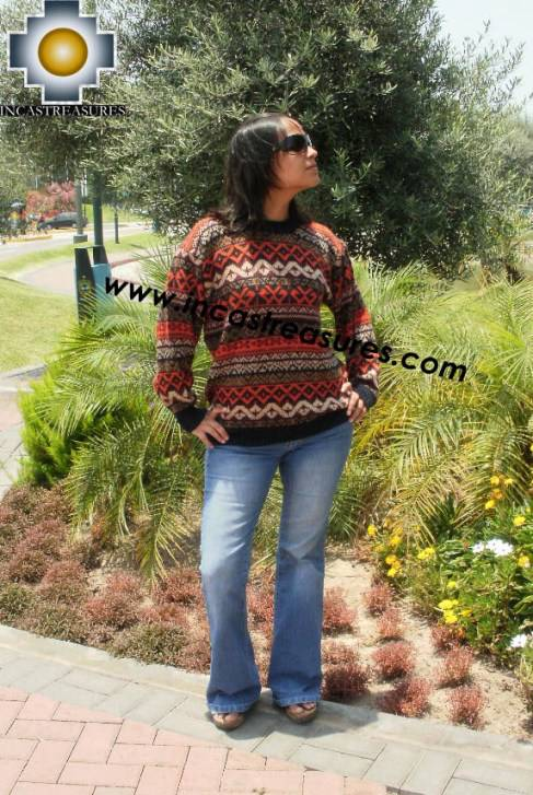 Women alpaca sweater contisuyo