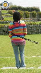 100% Alpaca Women Sweatshirt colibri  - Product id: women-alpaca-sweater12-02 Photo02