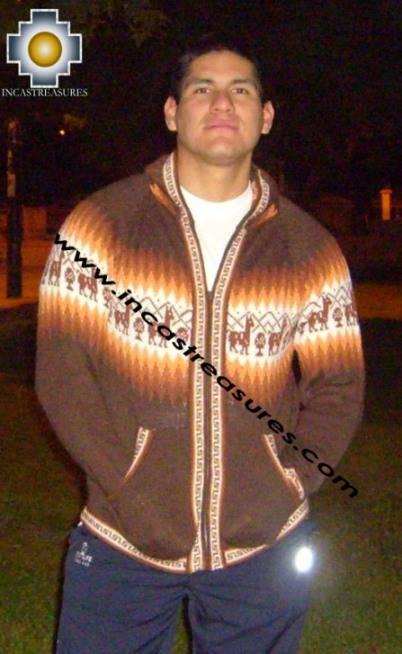 100% Alpaca Men Sweatshirt urqu  - Product id: MENS-SWEATER09-06 Photo03