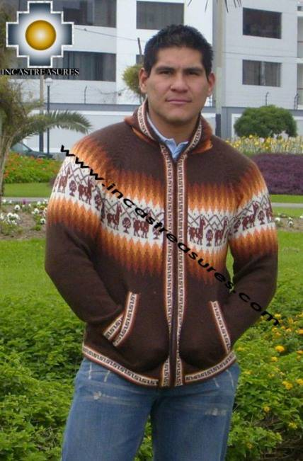 100% Alpaca Men Sweatshirt urqu  - Product id: MENS-SWEATER09-06 Photo01