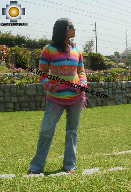 100% Alpaca Women Sweatshirt colibri  - Product id: women-alpaca-sweater12-02