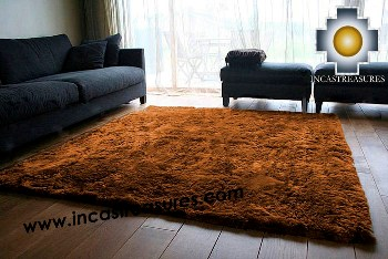 100% baby alpaca fur Rug Borderless brown - Product id: ALPACA-FUR-RUG-13-08 Photo01
