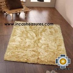 100% baby alpaca fur Rug Borderless Beige - Product id: ALPACA-FUR-RUG-13-09 Photo01