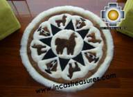 100% Alpaca baby alpaca round fur rug Alpaca Land - Product id: ALPACAFURRUG10-01 Photo04