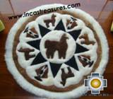 100% Alpaca baby alpaca round fur rug Alpaca Land - Product id: ALPACAFURRUG10-01 Photo01