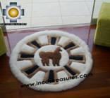 100% Alpaca baby alpaca round fur rug alpaca wheel - Product id: ALPACAFURRUG10-02 Photo04