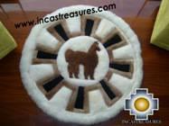 100% Alpaca baby alpaca round fur rug alpaca wheel - Product id: ALPACAFURRUG10-02 Photo01