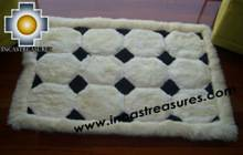 100% Alpaca baby alpaca round fur rug ancha alqa - Product id: ALPACAFURRUG10-05 Photo01