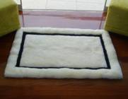100% Alpaca baby alpaca round fur rug andean mirror - Product id: ALPACAFURRUG10-06 Photo01