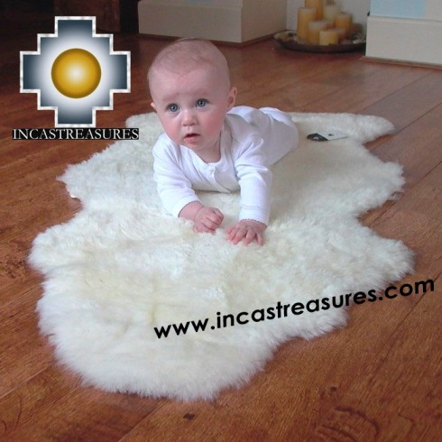 100% baby alpaca fur Rug Bedside  - Product id: ALPACA-FUR-RUG-13-04 Photo01