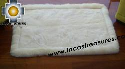 100% Alpaca baby alpaca round fur rug phuyu willka - Product id: ALPACAFURRUG10-08 Photo01