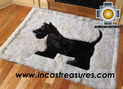 100% Alpaca baby alpaca Scottish Terrier - Product id: ALPACAFURRUG15-01 Photo04