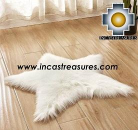 100% Alpaca baby alpaca round Fur Rug Star Shape - Product id: ALPACAFURRUG19-01 Photo02