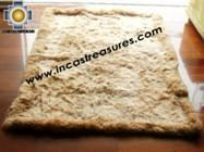 100% Alpaca baby alpaca round fur rug suri colors - Product id: ALPACAFURRUG10-11 Photo04