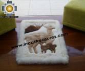 100% Alpaca baby alpaca round fur rug vicugna family - Product id: ALPACAFURRUG10-09 Photo03