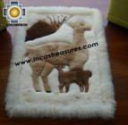 100% Alpaca baby alpaca round fur rug vicugna family - Product id: ALPACAFURRUG10-09 Photo01