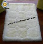 100% Alpaca baby alpaca round fur rug waka willka - Product id: ALPACAFURRUG10-10 Photo01