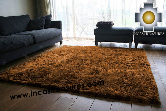 100% baby alpaca fur Rug Borderless brown - Product id: ALPACA-FUR-RUG-13-08
