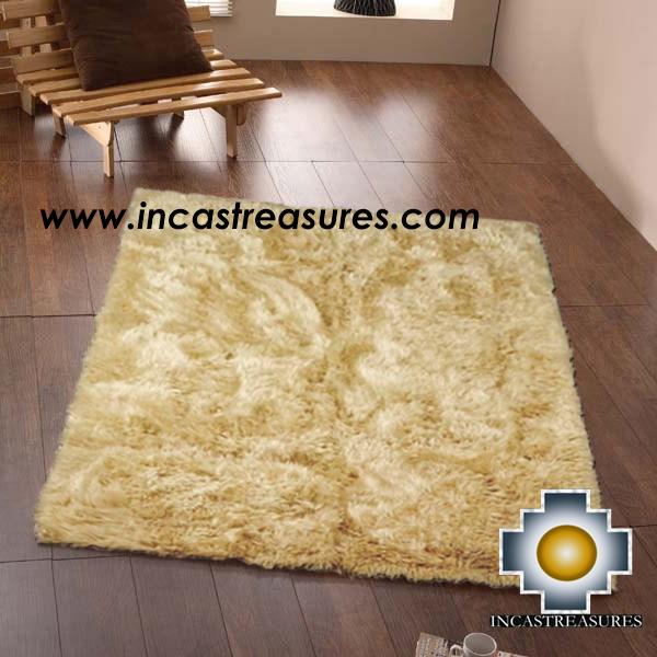 100% baby alpaca fur Rug Borderless Beige - Product id: ALPACA-FUR-RUG-13-09