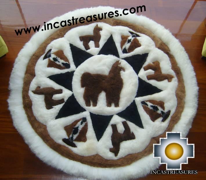 100 Baby Alpaca Round Shape Rugs
