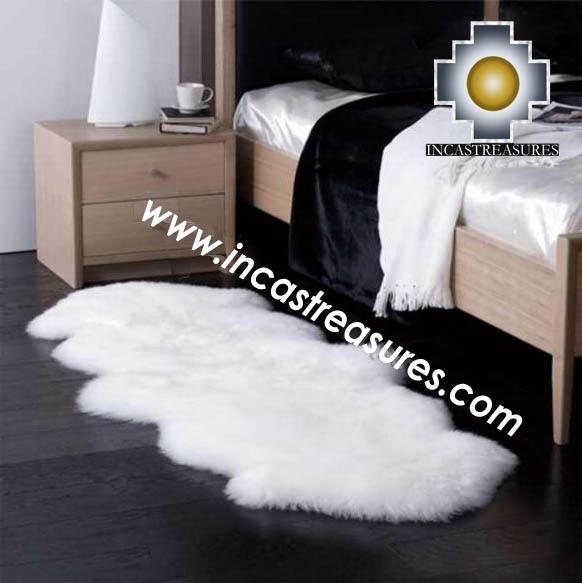 100% baby alpaca fur Rug Bedside  - Product id: ALPACA-FUR-RUG-13-04