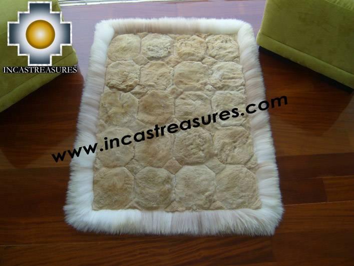 baby alpaca geometric fur rug Ancha Alqa