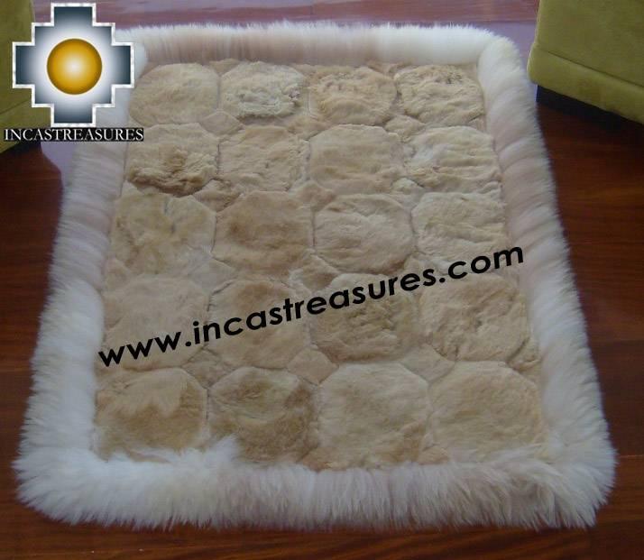 100% Alpaca baby alpaca round fur rug pacha willka - Product id: ALPACAFURRUG10-07