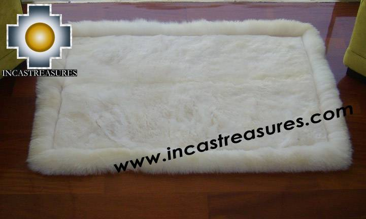 100% Alpaca baby alpaca round fur rug phuyu willka - Product id: ALPACAFURRUG10-08