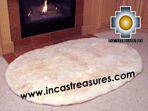 100 Baby Alpaca Fur Rug Round Corners Free Shipping