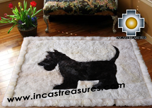100% Alpaca baby alpaca Scottish Terrier - Product id: ALPACAFURRUG15-01