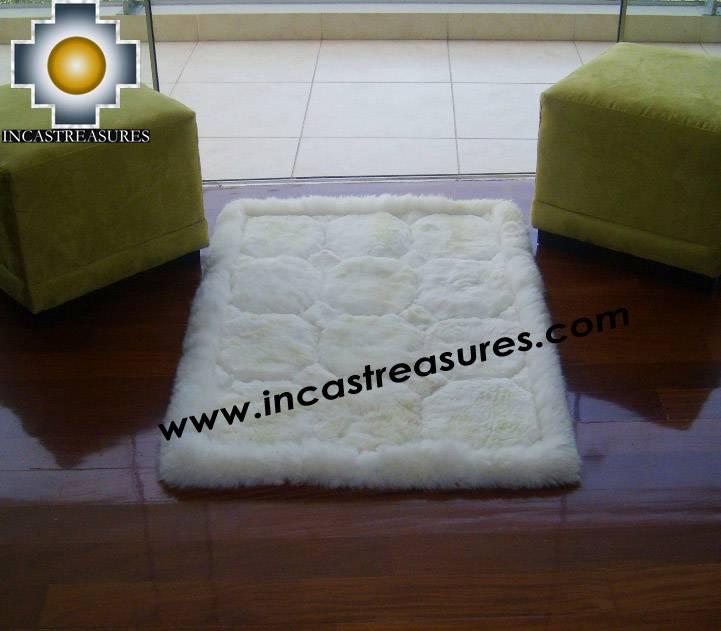 100% Alpaca baby alpaca round fur rug waka willka - Product id: ALPACAFURRUG10-10
