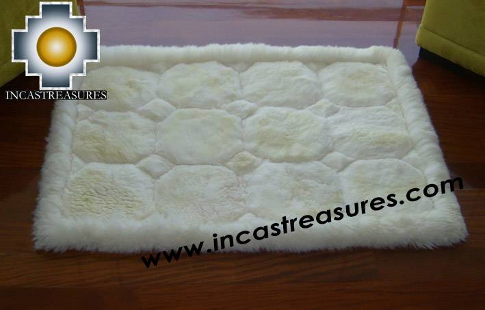 100% Alpaca baby alpaca round fur rug waka willka - Product id: ALPACAFURRUG10-10 Photo04