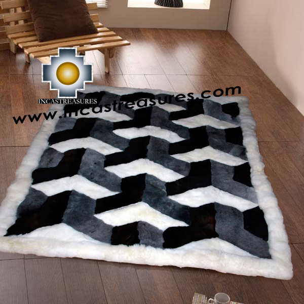 100% Alpaca baby alpaca round Rug Royal Arrows - Product id: ALPACAFURRUG20-01 Photo01