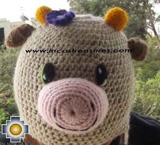 Alpaca Animal Hat Happy Cow -  Product id: Alpaca-Hats13-07 Photo02