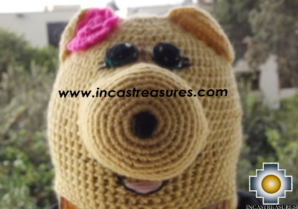 Alpaca Animal Hat Lady Pig -  Product id: Alpaca-Hats13-08 Photo01