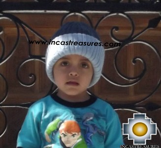 Alpaca Children Reversible Hat Clouds -  Product id: Alpaca-children-Hats13-07 Photo04