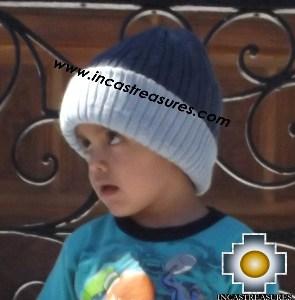 Alpaca Children Reversible Hat Clouds -  Product id: Alpaca-children-Hats13-07 Photo02